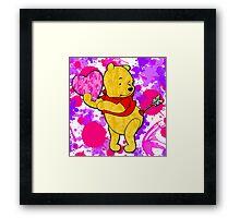 Pooh Bear Cupid Valentine Framed Print