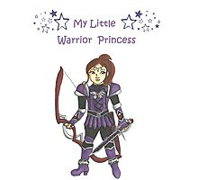 My Little Warrior Princess Photographic Print