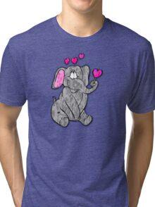Valentine Elephant  Tri-blend T-Shirt
