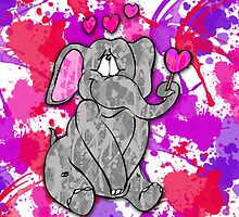 Valentine Elephant  by Lindsey Reese