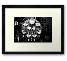 Steam gauges Framed Print