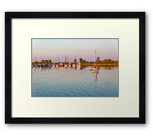 Impressions of Summer - Sailing Home at Sundown Framed Print