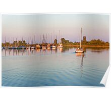 Impressions of Summer - Sailing Home at Sundown Poster
