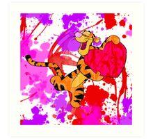 Valentine Tigger Art Print