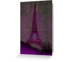 Pink Eiffel Tower Greeting Card