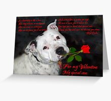 Staffie Valentine Greeting Card