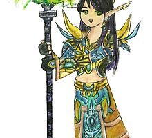 Anime Style Blood Elf Priest by etherealdesigns