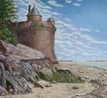 Tower, Mont St. Michel Normandie by ienemien