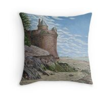 Tower, Mont St. Michel Normandie Throw Pillow