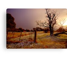 Golden Chill - Hill End - The HDR Experience Canvas Print