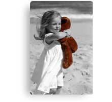 Lost without my Teddy Canvas Print