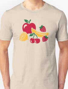 Fruits apple banana lemon strawberry T-Shirt