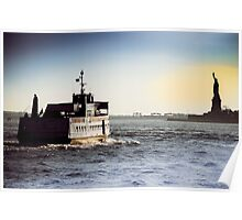 Liberty Island Ferry Poster