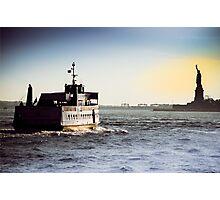Liberty Island Ferry Photographic Print