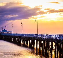 Pier in the Pink by Silken Photography