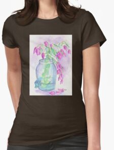 Flagler Beach Bougainvillea Womens Fitted T-Shirt