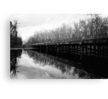 Bridge at Brewington Swamp, Manning SC Canvas Print