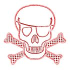 Pirate Squeezebones Weathered in Red by juliethebruce