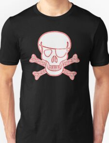 Pirate Squeezebones Weathered in Red Unisex T-Shirt
