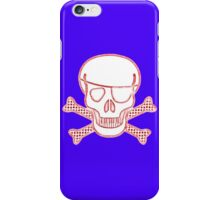 Pirate Squeezebones Weathered in Red iPhone Case/Skin
