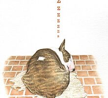 Z IS FOR ZZZZZZZZZZZZZZZ! From A Bull Terrier's Alphabet. by threebrownhares