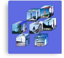 Lighthouse Cubes Canvas Print