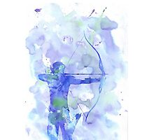 hawkeye - watercolor splatter Photographic Print