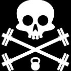 Skull and Cross Fitness Design by SometimesSilent