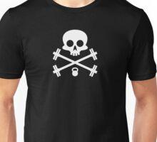 Skull and Cross Fitness Design Unisex T-Shirt