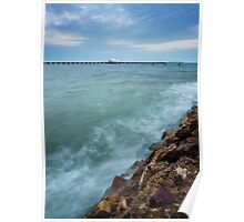 Shorncliffe Pier at High Tide Poster