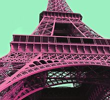 Le Style Pop Art De La Tour Eiffel by Spookytights