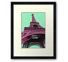 Le Style Pop Art De La Tour Eiffel Framed Print