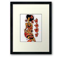 Afro women Framed Print