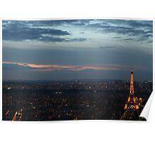 Paris at Dusk Poster