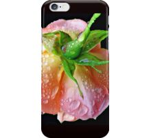 Orange Wildfire - Raindrops on Rose in Reflection Frame iPhone Case/Skin