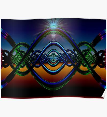 M3D: Helical Neon Sunrise  (G1013) Poster