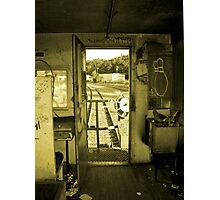 Riding the Caboose Photographic Print