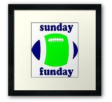 Super Bowl Sunday Funday - Seattle Framed Print