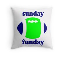 Super Bowl Sunday Funday - Seattle Throw Pillow