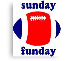 Super Bowl Sunday Funday - New England Canvas Print