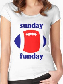 Super Bowl Sunday Funday - New England Women's Fitted Scoop T-Shirt