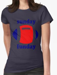 Super Bowl Sunday Funday - New England Womens Fitted T-Shirt