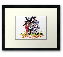 Evangelion rebuild group Framed Print