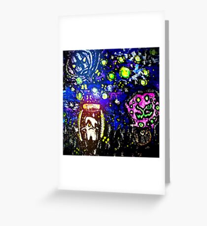 Litwick Trapped Little Candle Greeting Card