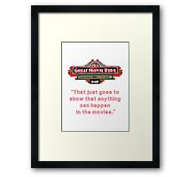The Great Movie Ride Framed Print