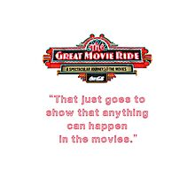 The Great Movie Ride Photographic Print