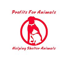 Profits For Animals Logo Photographic Print
