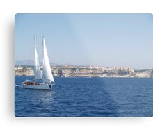 Sailing in the Straits Metal Print