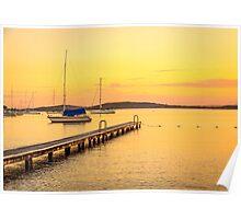 Belmont Lake Macquarie Australia Poster