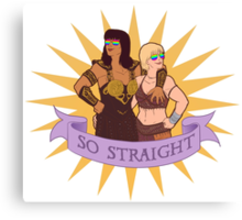 Xena and Gabrielle are totes platonic Canvas Print